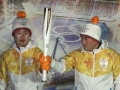 Pjongcsang  Pyrodekor Olympic torch